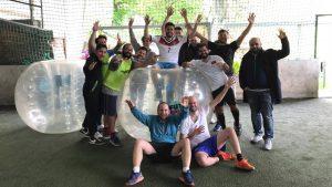 buborékfoci program ötlet csapatépítés cég céges
