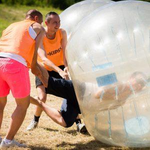 buborékfoci legénybúcsú csapatépítő rendezvény