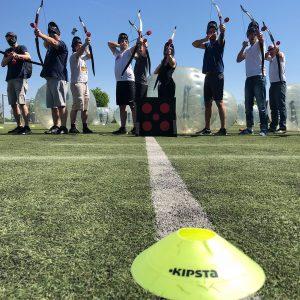 futballon archery tag íjász harc